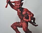 Krampus Statue II, Red Finish