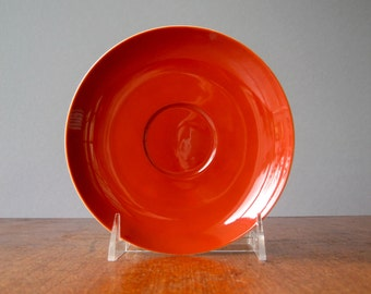 Seven Freeman Lederman Saucers in Burnt Orange - Tackett / Fujita