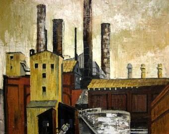 "St. Louis Digital Reproduction Art Print ""Union Electric Light & Power Company Ashley Street Powerhouse"" 12x15"