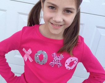 Diy Iron On Applique VALENTINES SHIRT XoXo Girl Diy Customize Photo Prop V Day Party My Little Beauty Queen