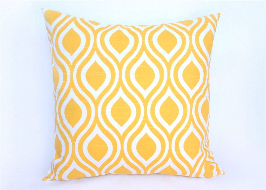 yellow decorative pillow cover