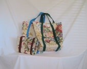 GROCERY BAGS Set of 3 Fabric REUSABLE Bags