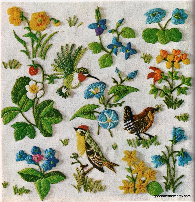 Объемная гладь, птицы и животные Рукоделие 5