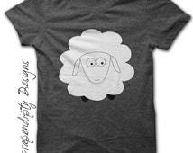 Sheep Iron on Shirt PDF - Farm Iron on Transfer / Kids Boys Clothing Tops / Toddler Sheep Shirt / Girls Farm Tshirt / Sheep Printable IT61-R