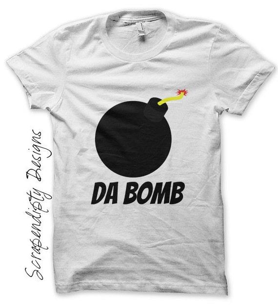 Da Bomb Iron on Shirt PDF - Hipster Iron on Transfer / Kids Boys Clothing Tops / Funny Girls Shirt / Video Game Tshirt / Printable  IT111