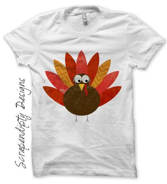 Iron on Turkey Shirt PDF - Thanksgiving Iron on Transfer / Kids Thanksgiving Shirt / Toddler Boys Clothes / Girls Baby Shower Present IT53