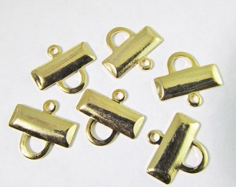 20 Vintage 12mm Gold-Plated One-Loop Connectors Con121