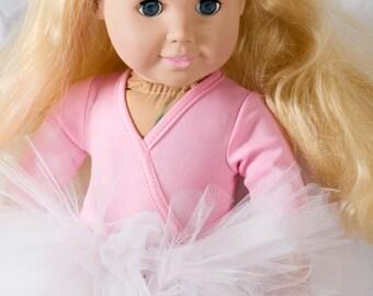 "Baby Doll Tutu:  WHITE Tutu For 18"" Doll or American Girl Doll"