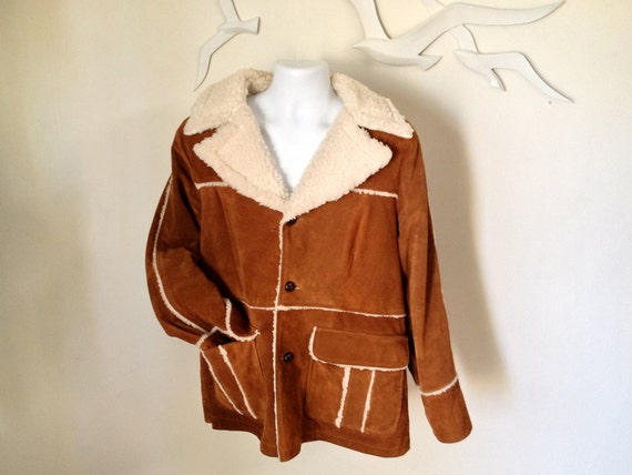Men S Mccloud Jacket Vintage 1970s 70 Suede Leather