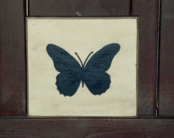 Butterfly Silhouette Wall Hanging