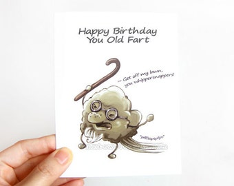 old fart  etsy, Birthday card