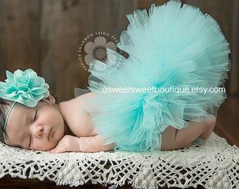 Newborn Tutu And Headband Aqua Tutu Newborn Tutus Baby Tutus Baby Girl Tutu Blue Tutus Baby Tutu And Headband Aqua Tutus Newborn Photo Prop