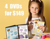 Learn How to Sew for Kids Pixie Projects Level 1 DVD Set (Beginning Volumes 1 thru 4)