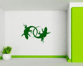 Gecko, Lizard, Southwestern Art, Symmetrical, Gecko, Gifts, Chameleon, Boys Room Decor, Wall Decal, Sticker, Reptile, Daycare, Playroom