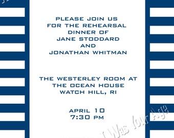 Printable Nautical Anchor Invitation