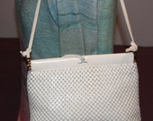 Purse Whiting and Davis  White Metal Mesh