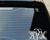 Monogram Car Decal - Small Decal - Name Wall Decal - Monogram Sticker - Car Sticker Monogram