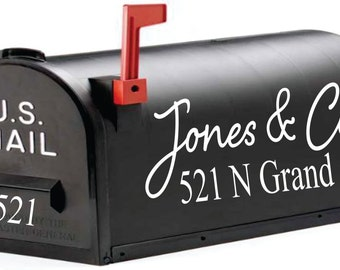Mailbox Decal With Custom Name // Personalized Address // Mailbox Name // Name Decal // Personalized Mailbox // Family And Company