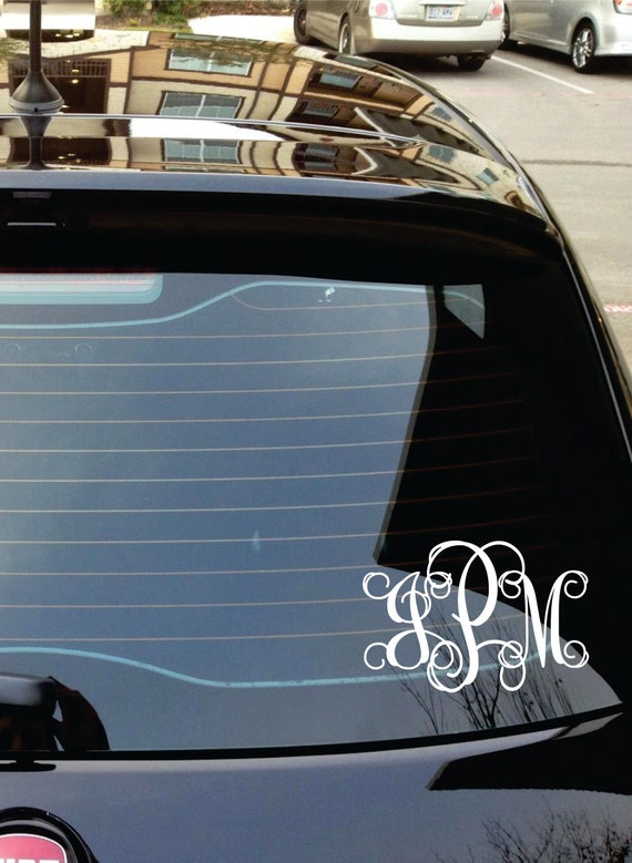 car decal monogram car stickers personalized by lucylews on etsy