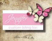 Custom order for Jennifer ONLY please. Thank You.