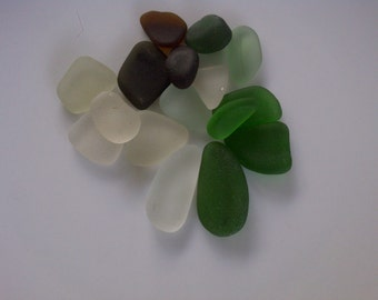 16 Beautiful Sea Glass Nuggets
