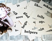 Vintage Educational Flash Card Phrases Vocabulary Words, You Pick