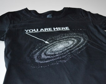 Outer Space Shirt - Mens Funny Tshirt - You Are Here Outerspace Tshirts - T Shirt for Men
