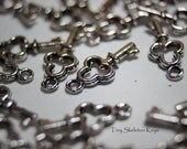 Tiny Skeleton Key Charms - Sold in small lots - 30 per lot - Lead free