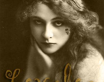 Haunting Gypsy Girl... Instant Digital Download... 1920's Vintage Erotic Glamour Photo