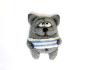 Funny magnets - Refrigerator magnets - Animal magnet - Small magnets - Felted animals - Needle felting - gift for her - gift for men