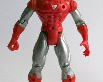 Ironman Avengers Action Figure, Red, Silver Version, Vintage, Marvel Comics, Iron Man