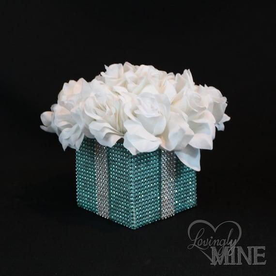 Tiffany Blue And Black Wedding Ideas: Items Similar To Centerpiece
