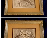 Art / Vintage Gun Lithograph Sketches Set Of Two