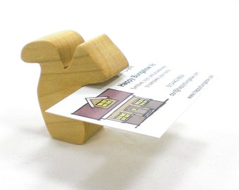 Wood Business Card Holder Squirrel, Wooden Card Holder, Wood Business Card Holder, Business Card Holder for Desk, Business Card Stand