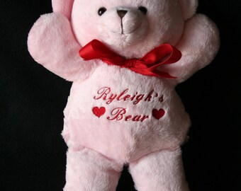 PERSONALIZED Teddy Bear Comes in Pink or Cream