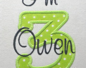 "Instant Download - Applique Number 412 - Machine Embroidery Design -Applique design numbers 0-9 - 4 sizes 3"" 4"" 5"" 6"""