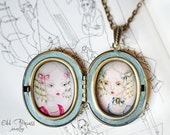DOLLS Ooak Victorian Art Cameo Locket Necklace by Odd Princess,Wearable Art, Gift For Her