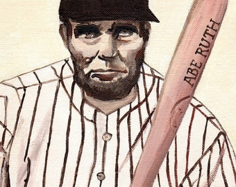 Abe Ruth // Lincoln Yankees pun art - art print