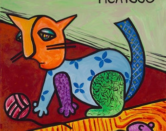 Picatsso // Kitty cat Picasso pun art print