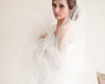 Cathedral Veil, Bridal Veil, Wedding Veil, Cathedral Length Wedding Veil, Ivory Veil, 108 inches - Ariana - 7213