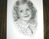 1940s Photograph Adorable Young Girl