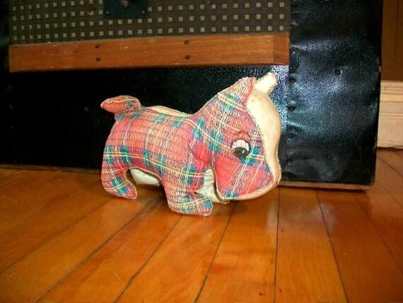 Vintage Scotty Dog Stuffed Animal
