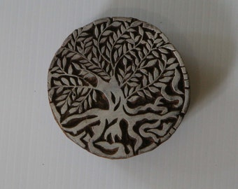 Tree of Life Stamp - Indian Style - Hand Carved Wood Block Printing Stamp