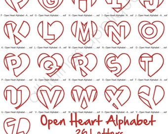 heart applique alphabet desi gns 26 letters 3 sizes valentine