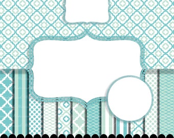 blue digital paper frame clip art baby aqua aqua quatrefoil photo circle digital frame clip art boy stripe p0207 3s212250