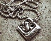 Molten Metal Personalized Initial Charm Necklace