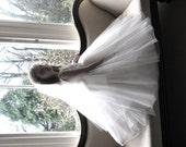 Vintage style first communion veil -  English tulle  first communion veil - Angelic