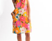 60s Flower Power House Dress