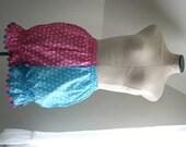 Two-Tone Pink & Blue Polka Dot Circus Lolita Bloomers Perianth Small-Medium