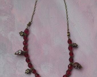 Skull & Flower Necklace